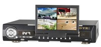 4ch H.264 Standalone DVR With LCD Monitor