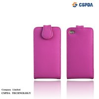 Mobile Phone Genuine Leather Case Covers For Iphone 4