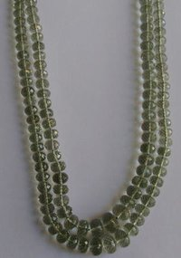 Green Amethyst Faceted Roundel