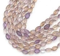 Ametrine Faceted Oval Beads