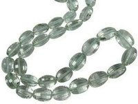 Green Amethyst Faceted Oval Beads