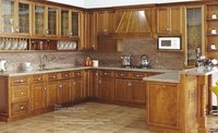 American Style Solid Wood Kitchen Cabinet Units
