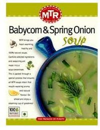 Baby Corn And Fresh Spring Onions Soup