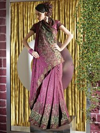 Pink Bridal Saree