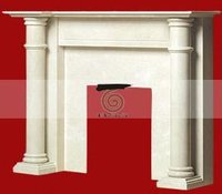Ethnic Marble Fireplace