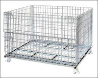 Jumbo Collapsible Wire Mesh Container With Half-Hinged Gate