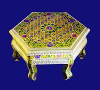 Meenakari Tables And Chowki