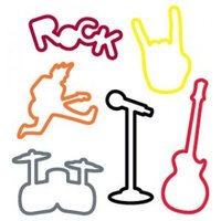Rock Shaped Silly Bandz Silicone Band