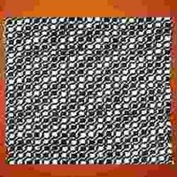 Pure Silk Black & White Fabric