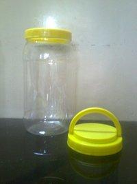 Round Simple Jars With Handle Cap