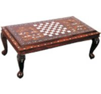 Rectangle Table Chess & Elephant Design