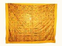 Gujrati Rana Work Bed Cover