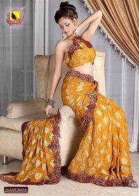 Orange Saree With Blouse