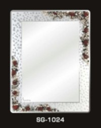 Mirror With Stone Design