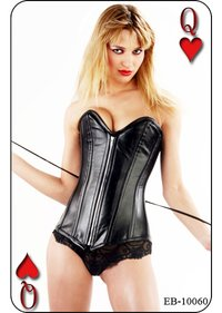 Longlined Leather Steel Boned Corset