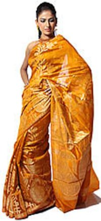 Yellow Banarsi Sarees