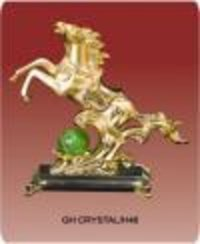 Golden Horse Crystal Gift Items