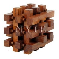 Wooden Jailed Square Puzzles