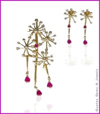 Diamond Pendent And Ear Tops