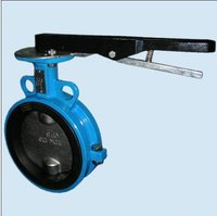 Rubber Seated Butterfly Valve With Single Disc And Shaft Arrangement