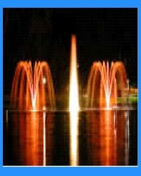 Multiple Fountain with LED Color Changing Lights