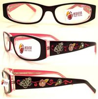 Handmade Acetate Carving Butterfly Optical Frame