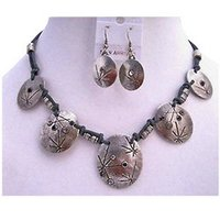 Silver Metal Necklace Set
