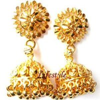 Gold Jhumkas Earrings