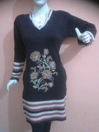 Embroidered Woolen Kurti