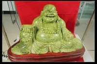 Jade Laughing Buddha Statue