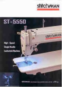 Single Needle Lock Stitch Machine (Heavy Duty)