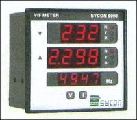 Digital Voltage Current And Frequency Meter