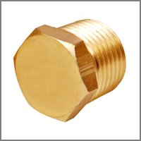 Brass Hex Pipe Plugs