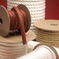 White Dry Asbestos Twisted Rope Metallic