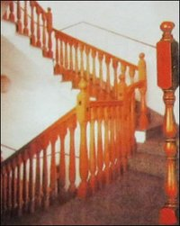 Wooden Stair Case With Wooden Legs