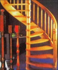 Wooden Stair Case With Wooden Step