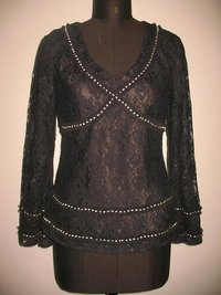 Beaded Lace Tops