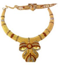 Decorative Gold Necklace