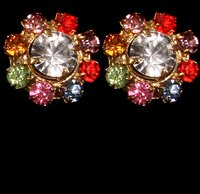 Multi Color Diamond Earring