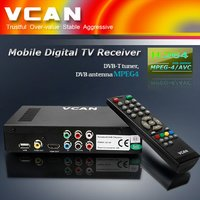 Portable Hd Car Digital Dvb-T Receiver 2 Tuner Mpeg4