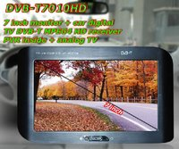 7 Inch Monitor + Car Digital TV DVB-T MPEG4 HD Receiver PVR inside + Analog TV