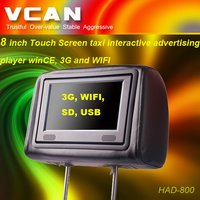 8 Inch Touch Screen Taxi Interactive Advertising Player Wince 3g