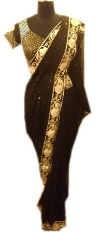 Black Gota Dori Saree