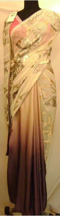 Butterfly Degrade Satin Saree