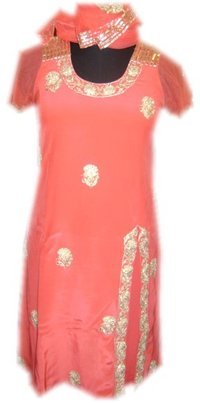Apricot Pink Gota Dori Suit