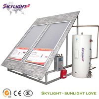 Split Pressurized Flat Panel Solar Heating System