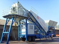 YHZS75A Mobile Concrete Mixing Plant