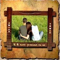 Hand Painted Designer Wooden Photo Frame