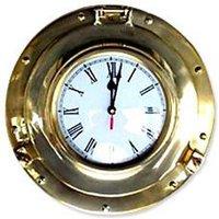 Brass Porthole Clock For Home Decor