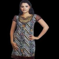Ladies Check Printed Kurta